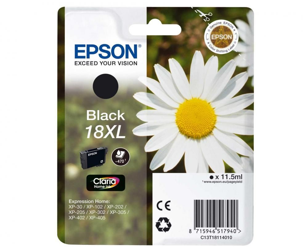 Cartus Inkjet Epson 18XL Black T18114010