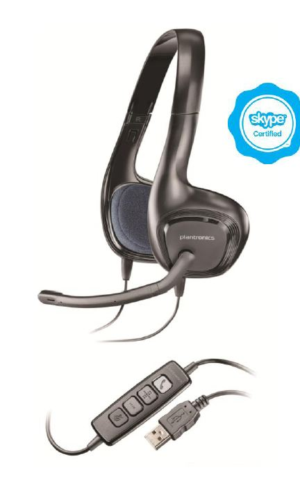 Casti cu Microfon Plantronics HD Audio 628 USB