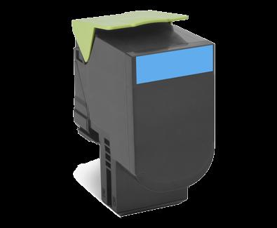 Cartus Laser Lexmark 802SC Cyan Capacitate Standard (2k) Return Program