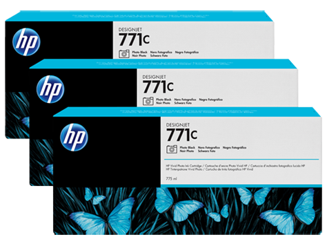 Pachet 3 Cartuse Inkjet HP Yellow 771C