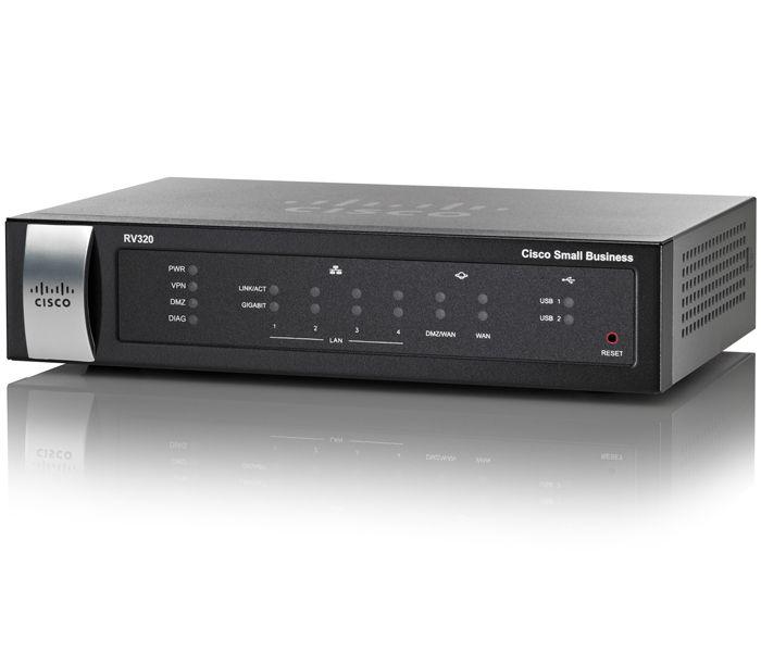 Router Cisco RV320 WAN: 2xGigabit fara WiFi