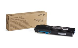 Toner Xerox High Capacity Cyan 6000p for Phaser 6600 WorkCentre 6605