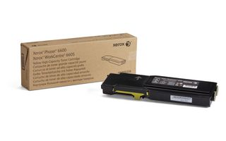 Toner Xerox High Capacity Yellow 6000p for Phaser 6600 WorkCentre 6605