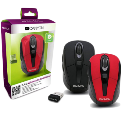 Mouse Optic Canyon CNR-MSOW06R Wireless Rosu