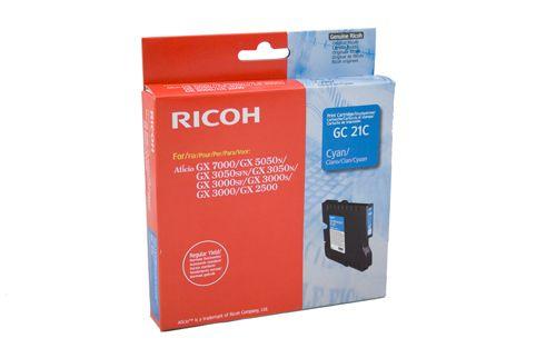 Cartus cyan RICOH pentru GX2500/GX3000/GX3000S/GX3000SF/GX3050N/GX3050SFN/GX5050N/GX7000