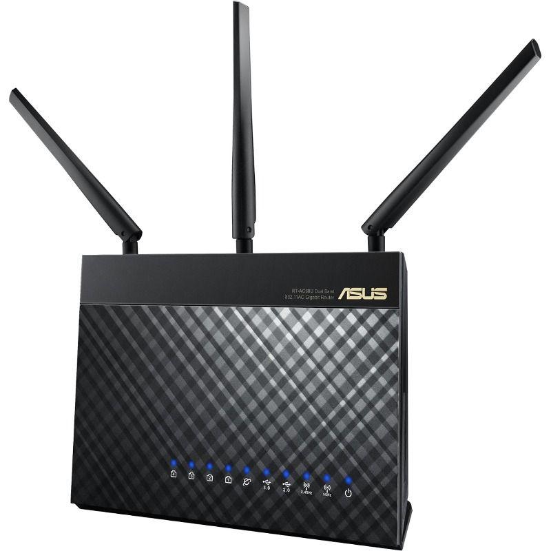 Router ASUS RT-AC68U WAN: 1xGigabit WiFi: 802.11ac-1900Mbps