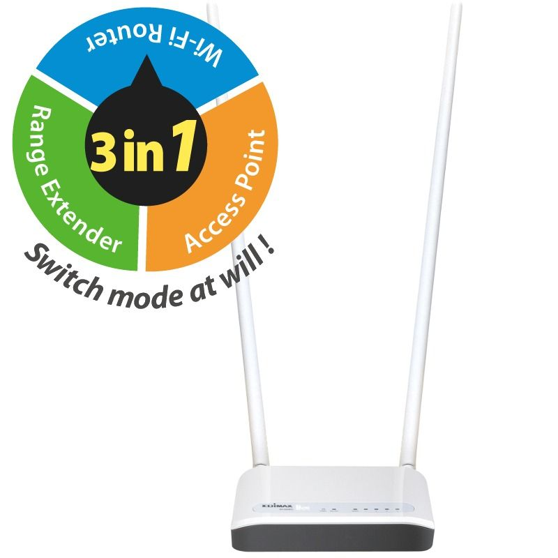 Router Edimax BR-6428NC WAN: 1xEthernet WiFi: 802.11n-300Mbps