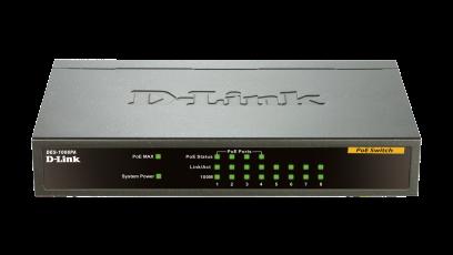 Switch D-Link DES-1008PA fara management cu PoE 8x100Mbps-RJ45 (4xPoE+)