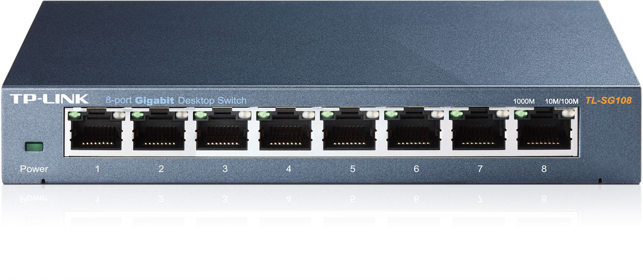Switch Tp-Link TL-SG108 fara management fara PoE 8x1000Mbps-RJ45