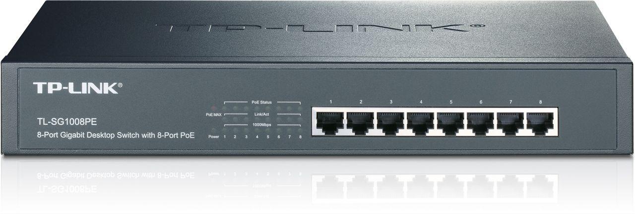 Switch Tp-Link TL-SG1008PE fara management cu PoE 8x1000Mbps-RJ45 (8xPoE)