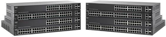 Switch Cisco SF220-48 cu management fara PoE 48x100Mbps-RJ45 + 2x1000Mbps-RJ45 (sau 2xSFP)