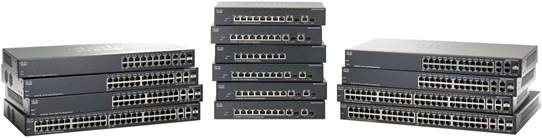 Switch Cisco SF302-08PP cu management cu PoE 8x100Mbps-RJ45 (PoE) + 2x1000Mbps-RJ45 (sau 2xGBIC)