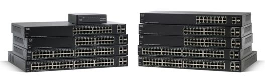 Switch Cisco SF200-24FP cu management cu PoE 24x100Mbps-RJ45 (PoE) + 2x1000Mbps-RJ45 (sau 2xGBIC)