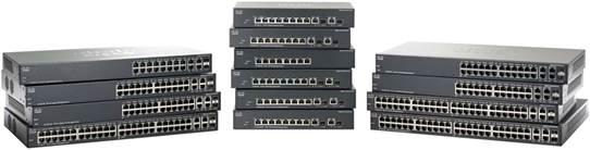 Switch Cisco SG300-10SFP cu management fara PoE 8xSFP + 2x1000Mbps-RJ45 (sau 2xGBIC)