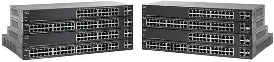 Switch Cisco SF220-24P cu management cu PoE 24x100Mbps-RJ45 (PoE) + 2x1000Mbps-RJ45 (sau 2xSFP)