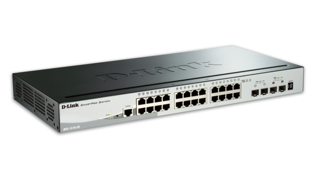 Switch D-Link DGS-1510-28 cu management fara PoE 24x1000Mbps-RJ45 + 2xSFP Gigabit + 2xSFP 10Gigabit