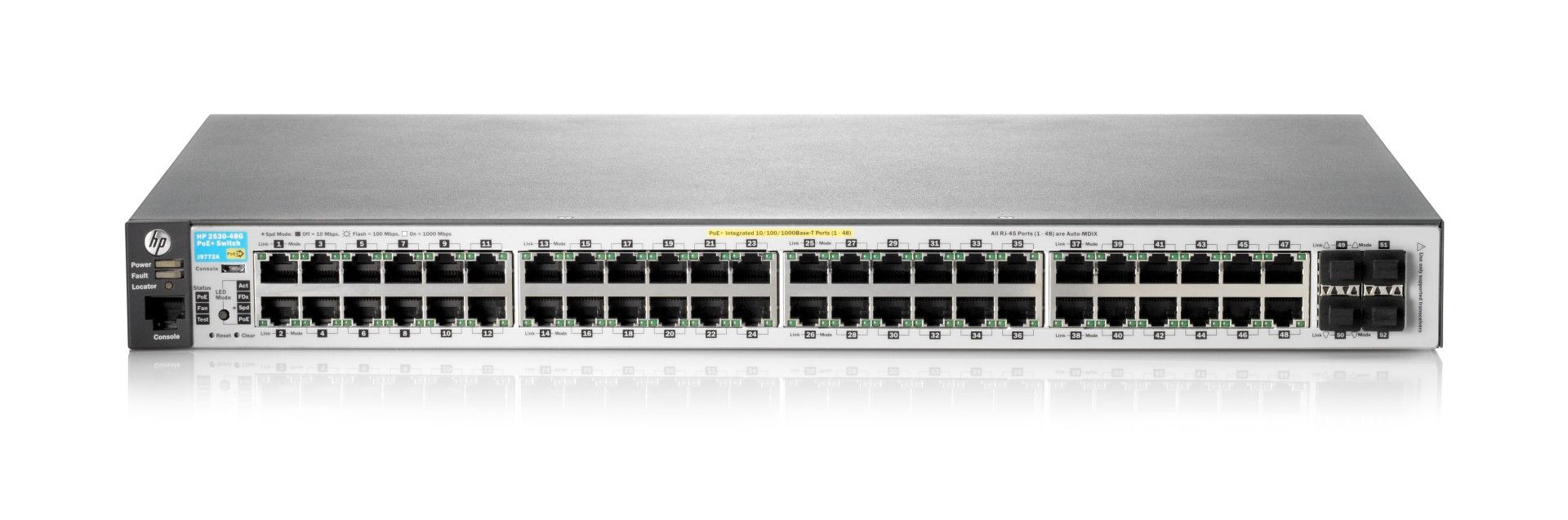 Switch HP 2530-24G-POE+ cu management cu PoE 48x1000Mbps-RJ45 (PoE+) + 4xSFP