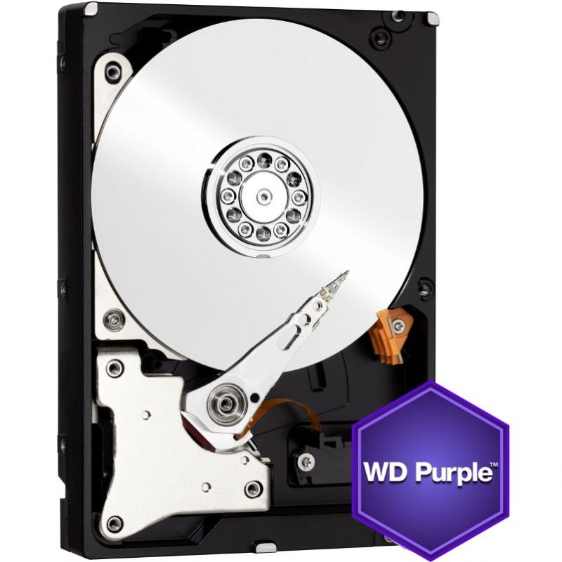 Hard Disk Desktop Western Digital Purple 2TB SATA-III IntelliPower