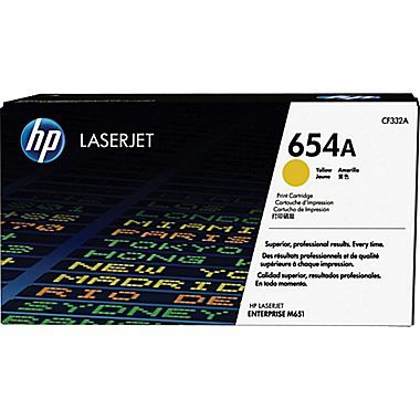 Cartus toner Yellow HP 654A pentru Color LaserJet Enterprise M651 15k
