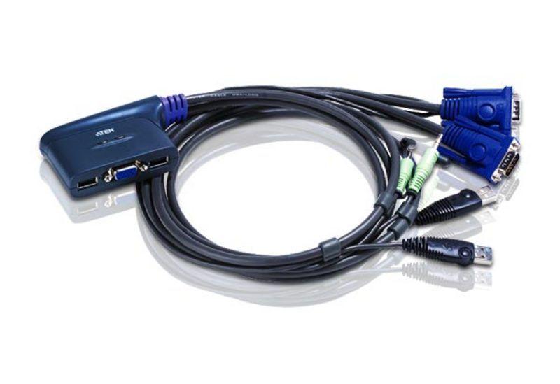 Switch KVM Aten CS62U nr de calculatoare conectate: 2 rezolutie: 2048x1536