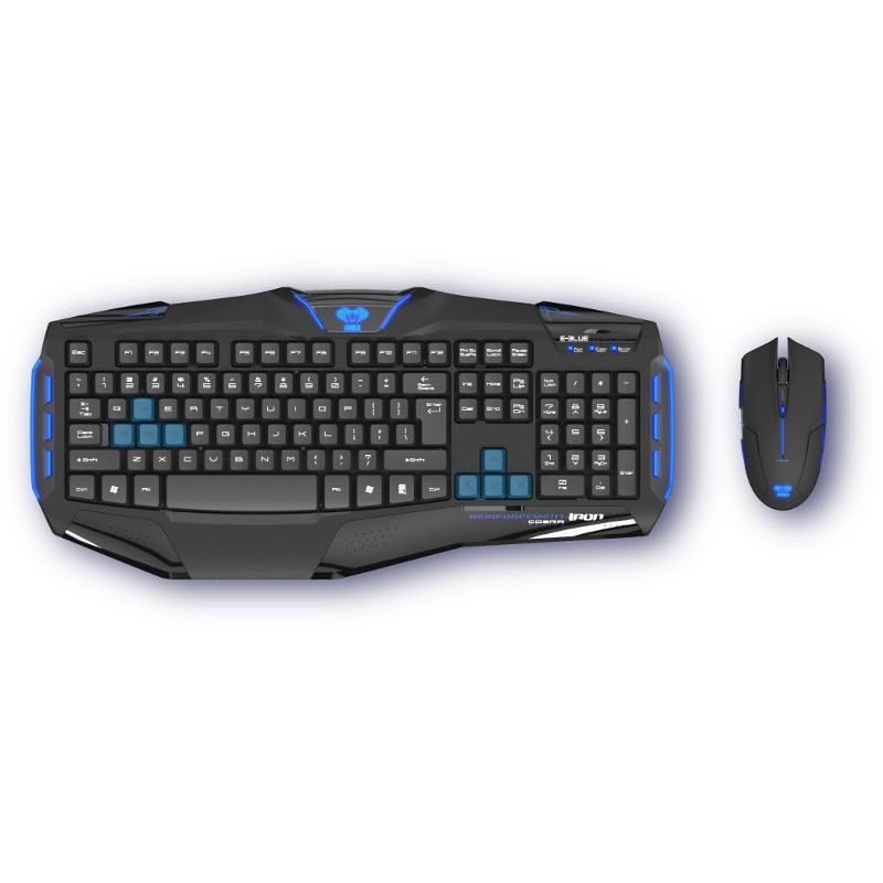 Kit Tastatura & Mouse E-Blue Cobra Reinforcement - Iron Professional