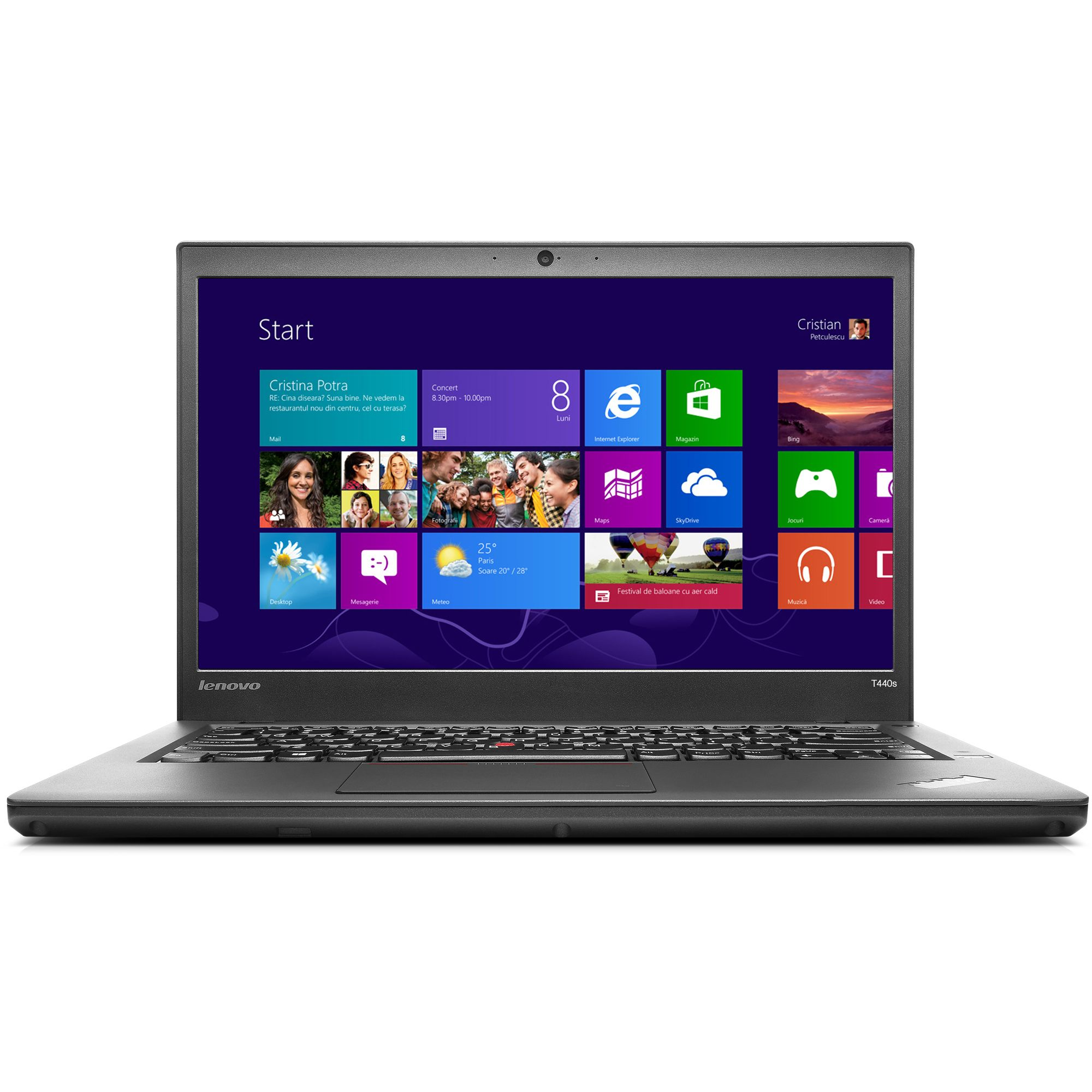 Notebook Lenovo ThinkPad T440p 14 Intel Core i5-4300M RAM 8GB 1TB Hybrid Windows 7 Pro Negru