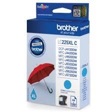 Cartus Inkjet Cyan Brother LC225XLC pentru DCP-J4120DW/MFC-J4420DW/MFC-J4620DW/MFC-J5320DW/MFC-J5620DW/MFC-J5720DW (1200 pagini)