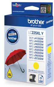 Cartus Inkjet Yellow Brother LC225XLY pentru DCP-J4120DW/MFC-J4420DW/MFC-J4620DW/MFC-J5320DW/MFC-J5620DW/MFC-J5720DW (1200 pagini)