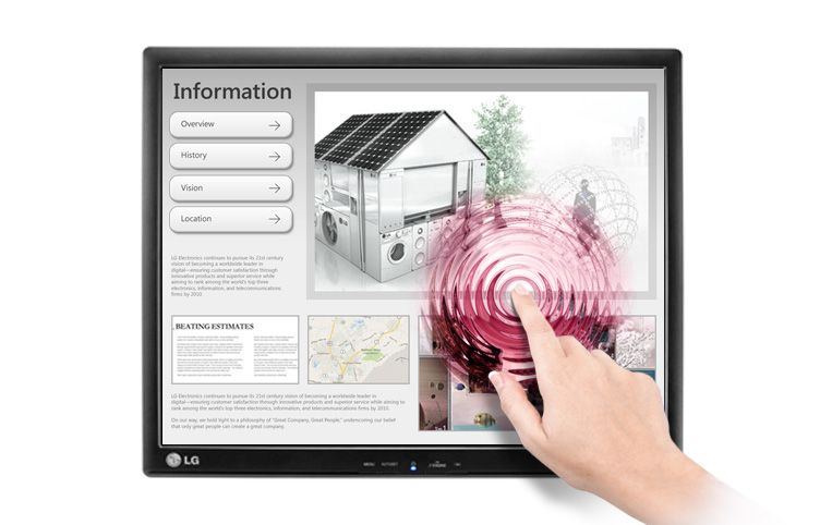 Monitor LED Touchscreen LG 17MB15T-B 17 SXGA Negru
