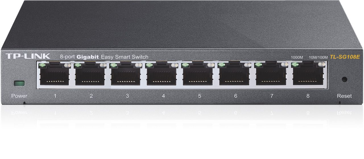 Switch Tp-Link TL-SG108E fara management fara PoE 8x1000Mbps-RJ45