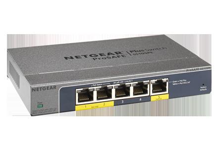 Switch Netgear GS105PE fara management fara PoE 5x1000Mbps-RJ45 (2xPoE+)