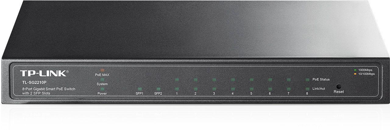 Switch Tp-Link TL-SG2210P cu management cu PoE 8x1000Mbps-RJ45 (PoE) + 2xSFP
