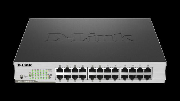 Switch D-Link DGS-1100-24P cu management cu PoE 24x1000Mbps-RJ45