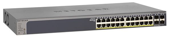 Switch Netgear GS728TP cu management cu PoE 24x1000Mbps-RJ45 (PoE+) + 6xSFP