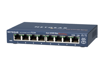 Switch Netgear FS108 fara management fara PoE 8x100Mbps-RJ45