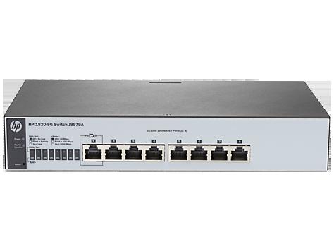 Switch HP 1820-8G cu management fara PoE 8x1000Mbps-RJ45