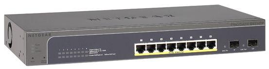 Switch Netgear GS510TP cu management cu PoE 8x1000Mbps-RJ45 (PoE)+ 2xSFP