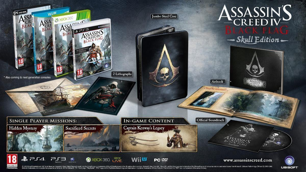 Assassins Creed 4 Black Flag Skull Edition WII U