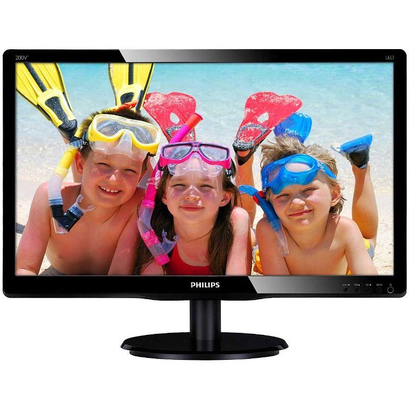 Monitor Led Philips V-line 200v4qsbr 19.5'' 8ms 16:9 Full Hd Dvi Vga Negru