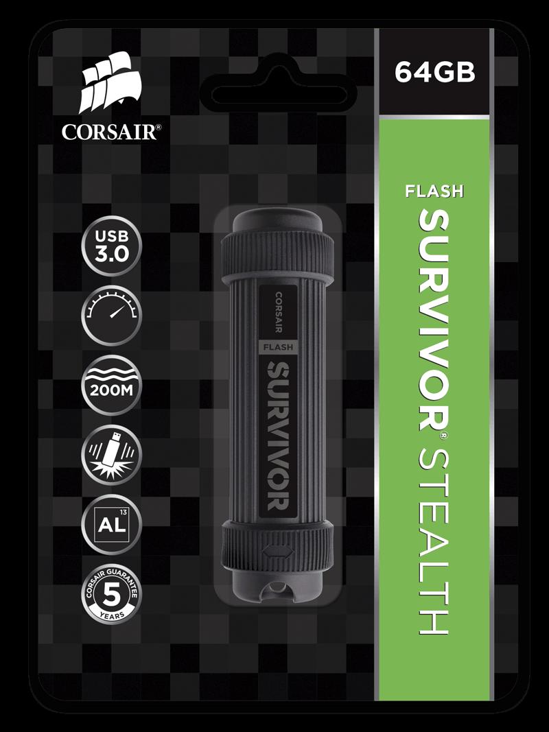 Flash USB Corsair Survivor Stealth 64GB USB 3.0