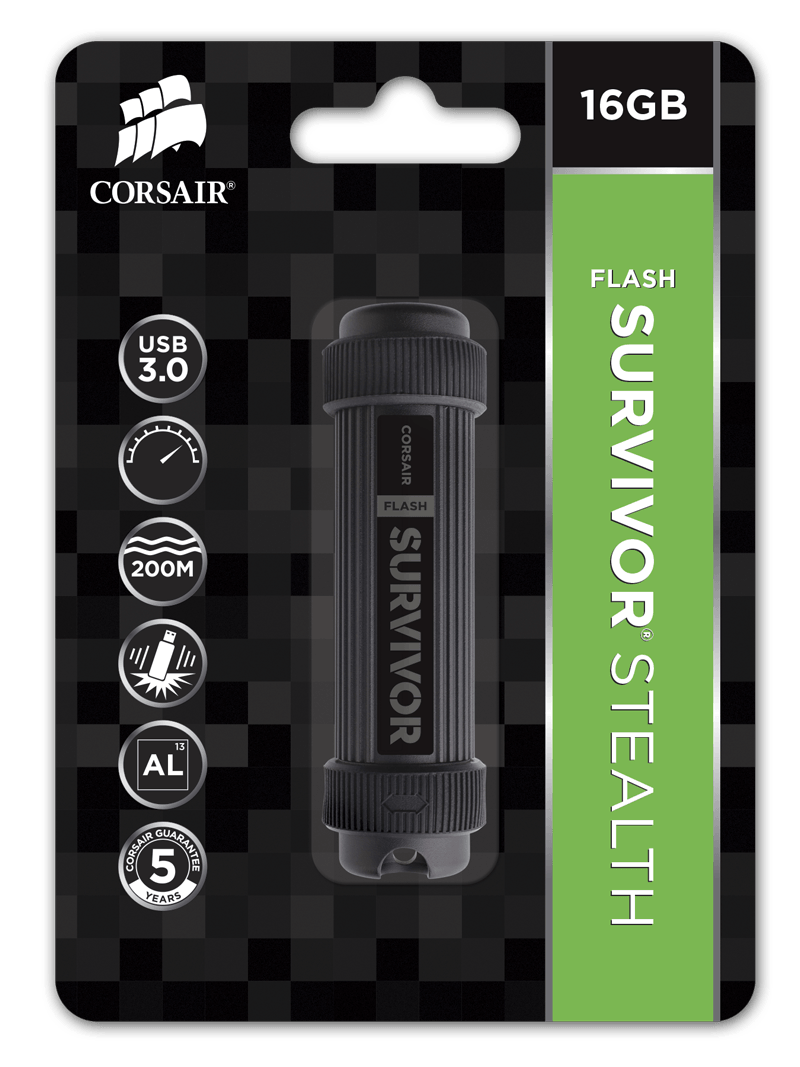 Flash USB Corsair Survivor Stealth 16GB USB 3.0