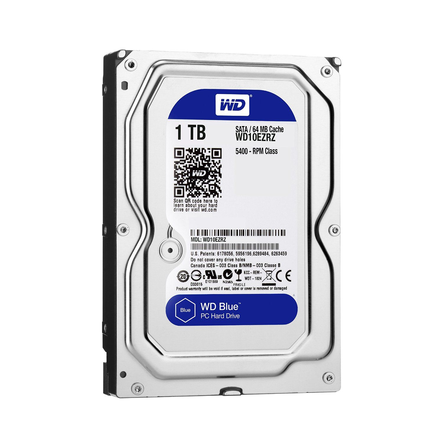 Hard Disk Desktop Western Digital Blue 1TB SATA3 5400 RPM 64MB 3.5