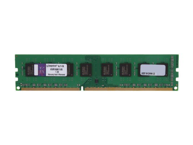 Memorie Desktop Kingston KVR16N11/8BK 8GB DDR3 1600MHz bulk title=Memorie Desktop Kingston KVR16N11/8BK 8GB DDR3 1600MHz bulk