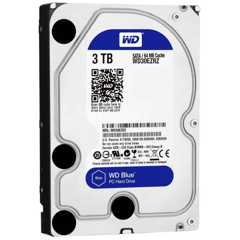 Hard Disk Desktop Western Digital Blue 3TB SATA3 5400 RPM 64MB 3.5