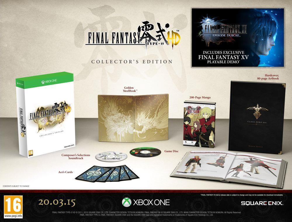 Final Fantasy Type-0 HD Collectors Edtition Xbox One