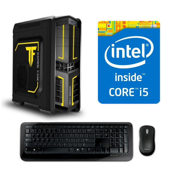 Sistem Adisys Gaming Intel Core i5-4690 8GB RAM 1TB HDD R7 240-4GB DVD-RW Carcasa Middle Tower 500W