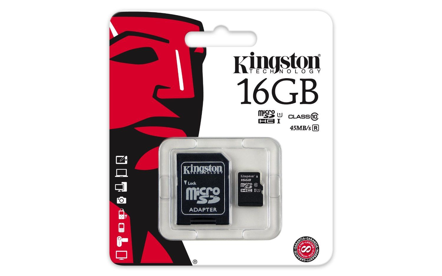Card memorie Kingston micro SDHC 16GB Clasa 10