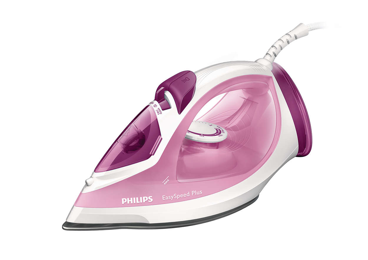 Fier de calcat Philips EasySpeed Plus GC2042/40 2100W Capacitate 270ml Alb/Roz