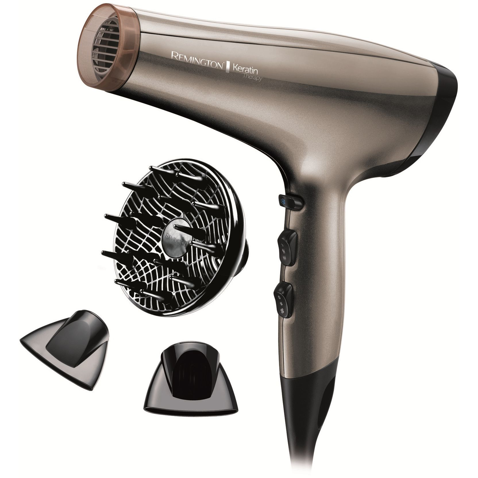 Uscator de par Remington Keratin Therapy Pro Dryer AC8000 2200W 2 viteze Maro