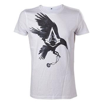 Tricou Assassins Creed Syndicate Crow White L